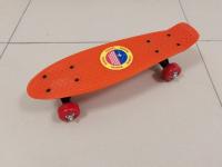 Пенниборд 41х13 см оранжевая дека с небольшими колесами