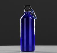 """Фляжка туристическая """"Классика"""" с карабином, 600 мл, синяя, 7х21 см"""