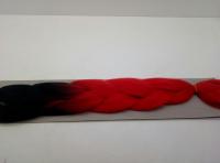 Косы канекалон двухцветные (чёрный/ красный)