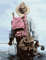 Картина по номерам 40х50 Заядлый рыбак