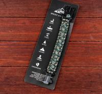 Браслет для выживания 4в1(паракорд, компас,свисток,огниво), многоцветный, 25.5 × 2.5 см,микс