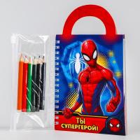 Блокнот с раскраской, Человек-паук