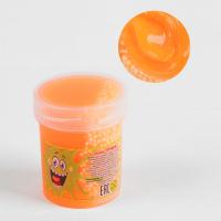 Слайм «Плюх»,оранжевый с шариками, туба 40 г
