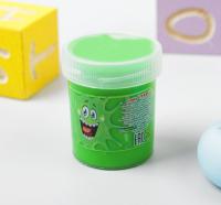 """Слайм """"Плюх"""", зелёный с шариками, туба 40 г"""