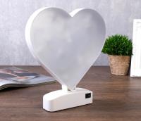"""Ночник """"Сердце"""" LED RGB батарейки 3хAAА 19,7х3,5х22 см."""