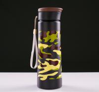 Бутылка для воды 800 мл, с поильником и карабином, 7.5х24.5 см, микс