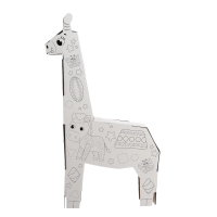 Набор для творчества «Жирафик Роро», раскраска-конструктор из картона