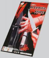 Прикол «Нож прятающееся лезвие с кровью»