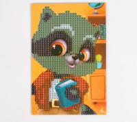 Алмазная мозаика для детей «Енотик», 10 х 15 см. Набор для творчества