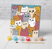 Картина по номерам «Милые котята» 15×15 см