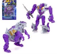 Робот-трансформер «Динобот» (фиолетовый), 5 видов, собирается в 1 робота