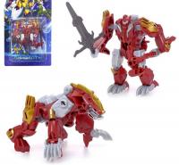 Робот-трансформер «Динобот», 5 видов (красный), собирается в 1 робота