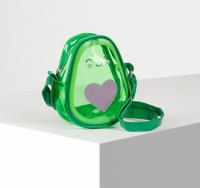 Сумка детская авокадо сердце, цвет зелёный