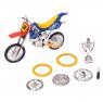 Пальчиковый мотоцикл «Эндуро», с дополнительным комплектом колёс, цвета МИКС (уценка)