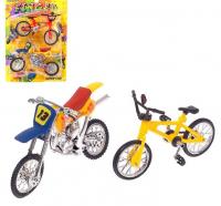 Набор пальчиковый мотоцикл и BMX, МИКС