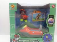 Щенок-спасатель на машине, оранжевый, с голограф. картинкой