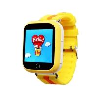 Детские часы с GPS Q100 (GW200s) сенсор жёлтые