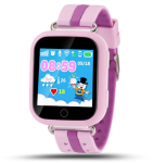 Детские часы с GPS Q100 (GW200s) сенсор розовые