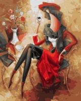 Картины по номерам 40х50 Абстрактная женщина