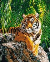 Картины по номерам 40х50 Бенгальский тигр (GX 8306)
