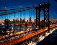 Картины по номерам 40х50 Бруклинский мост