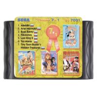 Картридж Sega 16b 7in1 Bs7001(Aladin+LKind2+...)(рус)SK
