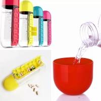 Бутылка с органайзером для таблеток