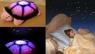 """Ночник-проектор звёздного неба """"Черепаха"""" оранжевая"""