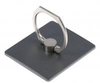 Держатель-подставка с кольцом для телефона LuazON, в форме квадрата, черный