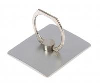 Держатель-подставка с кольцом для телефона LuazON, в форме квадрата, серебристый