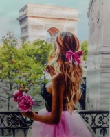 Картины по номерам 40х50 Девушка на балконе