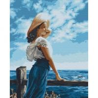 Картины по номерам 40х50 Девушка у моря