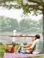 Картины по номерам 40х50 Пикник у озера