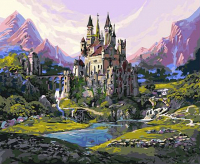 Картины по номерам 40х50 Волшебный замок