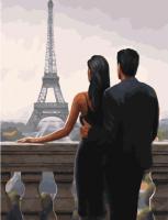 Картины по номерам 40х50 В Париж с любимым