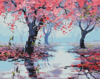Картины по номерам 40х50 Весна в розовом саду