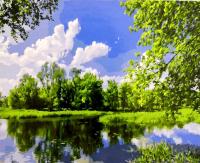 Картины по номерам 40х50 Край озер