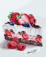 Картины по номерам 40х50 Вкусный кусочек