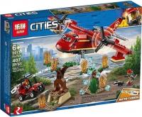 Конструктор Lepin Cities Пожарный самолет 407+ дет.