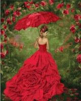 Картины по номерам 40х50 Красное бальное платье