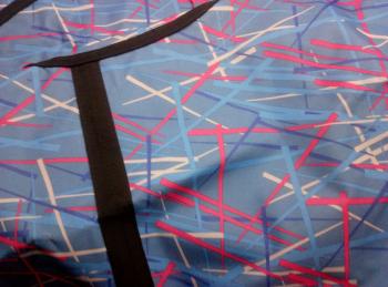 Тюбинг-ватрушка Оксфорд-ПВХ голуб. 120 см (красные полосы)