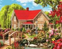 Картины по номерам 40х50 Красный дом (GX 5623)