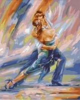 Картины по номерам 40х50 Красочный танец