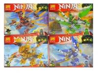 Конструктор LELE Ninja 97+ дет. 4 вида
