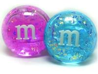 Лизун M&M's  с блестками большой