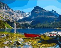 Картины по номерам 40х50 Лодка на озере О'Хара