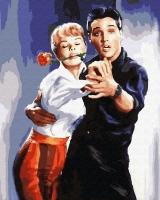 Картины по номерам 40х50 Лорель Гудвин и Элвис Прэсли