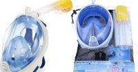 Маска для снорклинга L-XL голубая / синяя