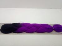 Косы канекалон двухцветные (чёрный/ фиолетовый)