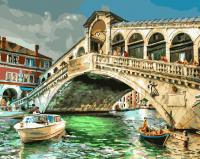 Картины по номерам 40х50 Мост риальто. Венеция